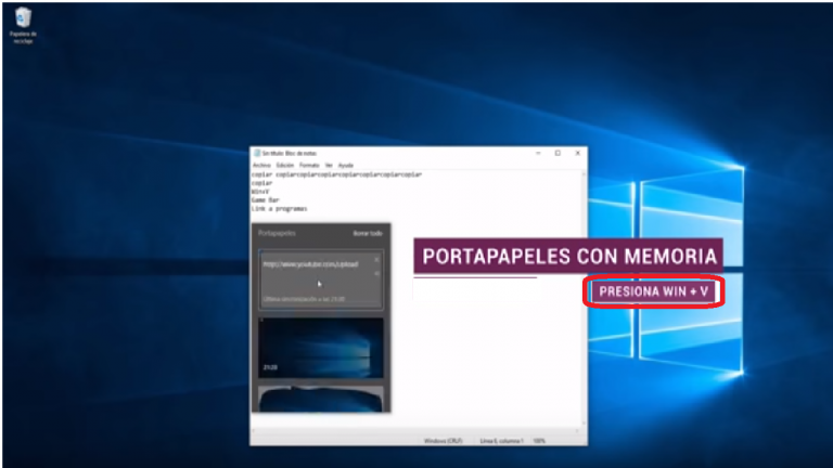 historial portapapeles windows 10